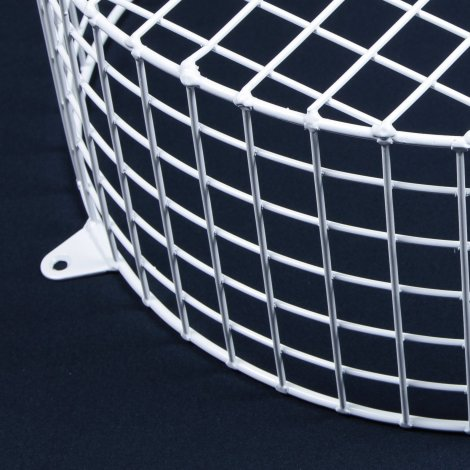 Aiano FLS/RMW large round white bulkhead guard – detailed view