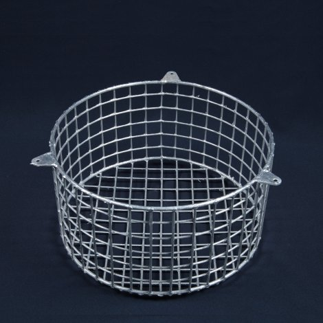 Aiano FLS/RSG small round galvanised bulkhead guard – back view