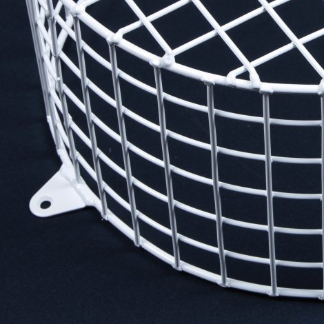 Aiano FLS/RSW small round white bulkhead guard – detailed view