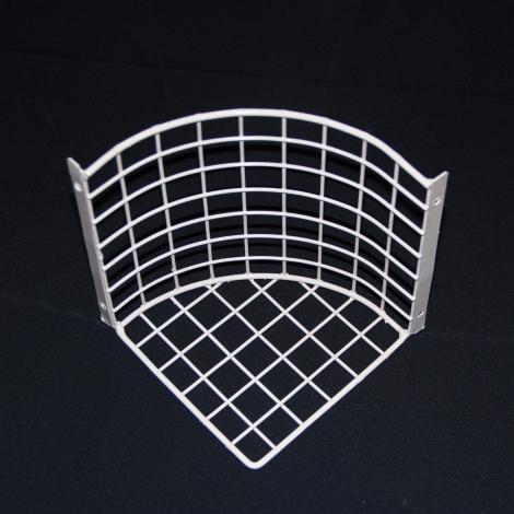 Aiano PIR/MD corner mounted sensor guard – top view