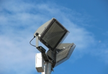MS Guardio is able to provide galvanised wire mesh light guards for pole mounted floodlights.