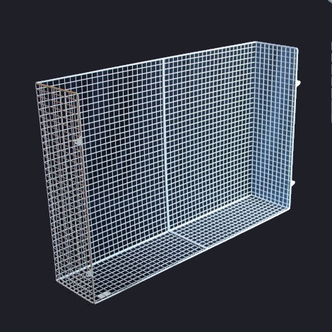 QM150-AIA heater guard – bottom view