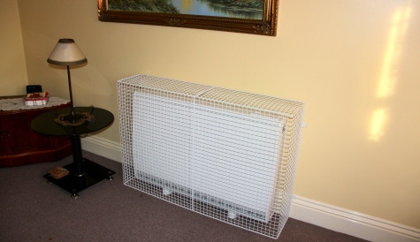 MS Guardio wire mesh radiator guards include guards for storage heaters, such as Dimplex QM150