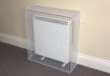 MS Guardio's range of wire mesh radiator guards include storage, combination and Quantum electric storage heaters