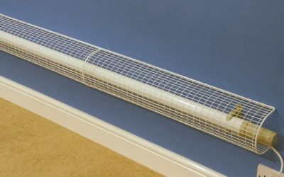 Thermostatic tubular heater guards