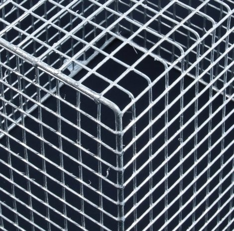 Aiano FLTRAC medium galvanised floodlight guard – detail view