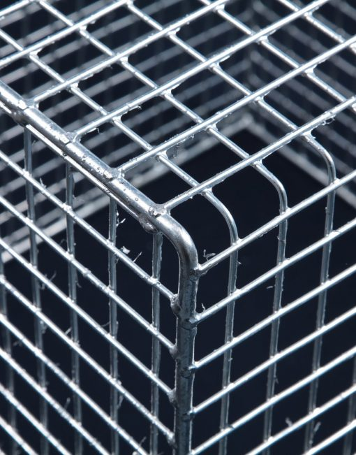 Aiano FLMINI medium galvanised floodlight guard – detailed view